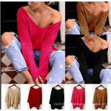 European Loose Pullover Plus Size Knitting Sweater for Women