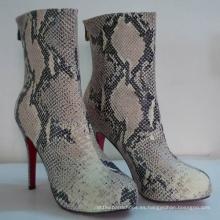 2016 nuevo estilo de botas de mujer de piel de serpiente (Hcy02-749)