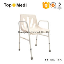 Topmedi Aluminum Shower Chair with Armrest and Backrest
