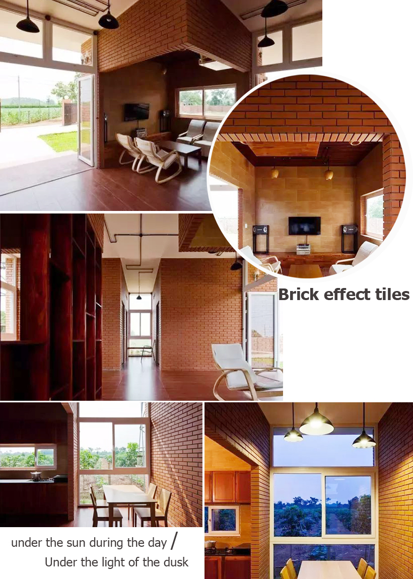 brick effect tiles white