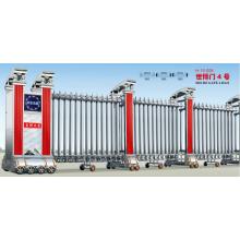 Porte escamotable électrique d'acier inoxydable