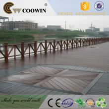 Revestimento exterior que cobre o revestimento wpc da plataforma impermeável