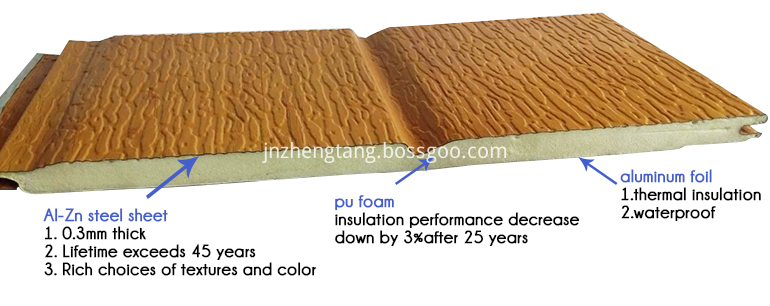 details of the buiding exterior wall finish materials