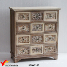 Relif Floral Solid Country French Style Wood Carving Furniture