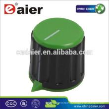Bouton de potentiomètre de glissière en plastique KN-116 avec le bouton moleté de coin pointu