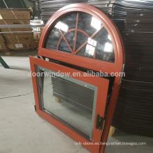 Ventanas de aluminio redondas de alta calidad, con diseño de parrillas, ventana de formas especiales de Doorwin