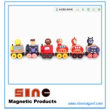 Tren magnético de madera de la moda para el juguete educativo