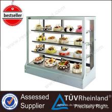 Kommerzielle multifunktionale 1.2M 4 Schichten Bäckerei Kuchen Display Vitrinen