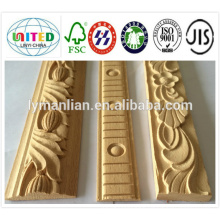 chinese style skirting board/wood decorative ceiling moulding/wooden ceiling design