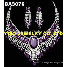 Ensemble de bijoux de mariage de luxe