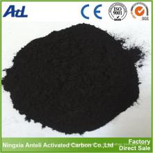 Carbón activo en polvo activado a base de madera carbón de grado alimenticio