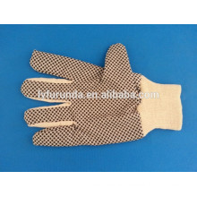 Canvas working gloves price,cotton canvas work gloves with pvc dots