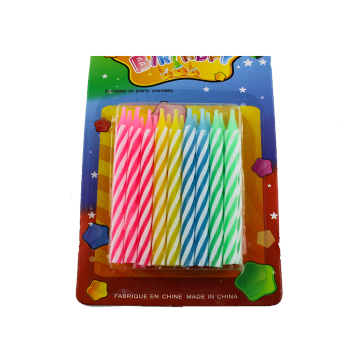 18 Pieces Colorful Birthday Party Lilin Spiral