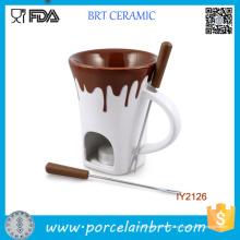 Cerâmica com Chocolate Transbordante Fondue Grill Quente