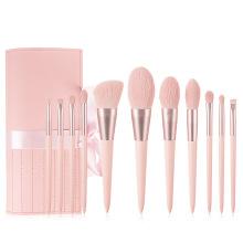 Normal Size 11 Piece 2021 Hot Sale Makeup Brushes Private Label Blush Powder Foundation Makeup Brush Set