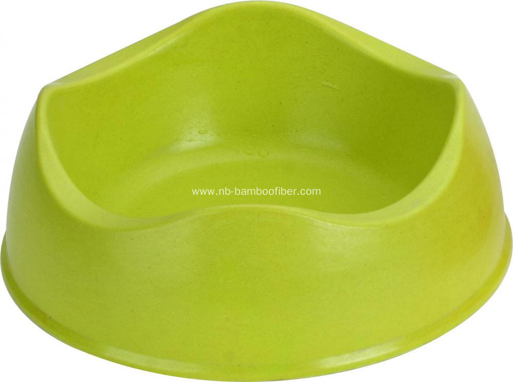 Irregular bamboo fiber pet bowl