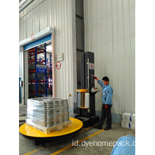 Pallet stretch wrapper dengan timbangan
