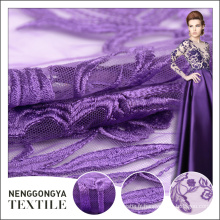 Chine usine Haute qualité polyester maille africaine brodé tissu