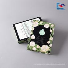 El logotipo imprimió la caja de regalo de papel cosmética de empaquetado para la máscara facial
