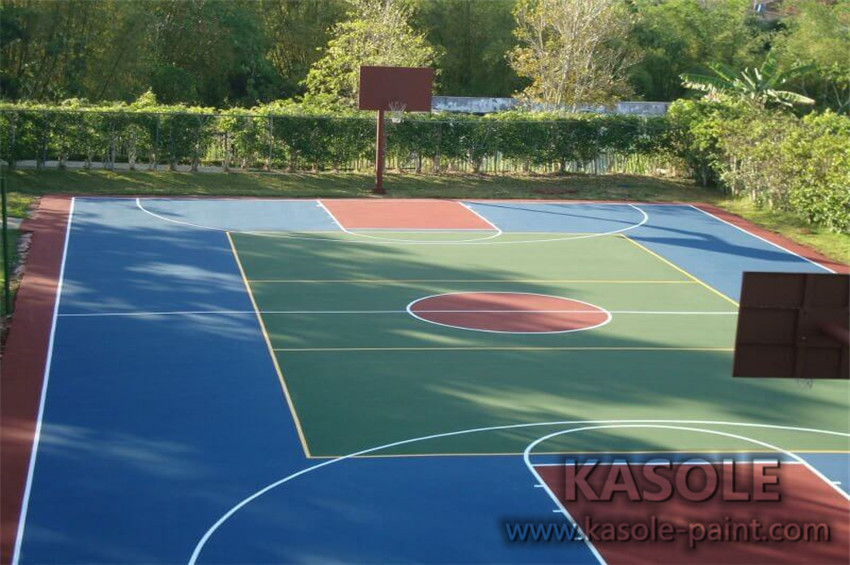 Basketball Court acrylic material properties