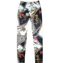 Chaîne de mode classique impression Leggings Jean legging sans couture