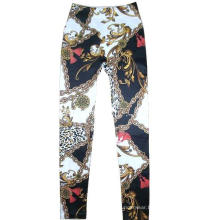 Classical Fashion Chain Printing Seamless Leggings Jean Leggings
