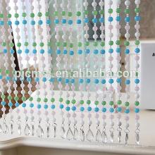 Rideau en perles de cristal avec perle colorée pour la décoration des portes qui respecte l'environnement