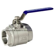 304 Vannes à bille sanitaire 2PC en acier inoxydable 316