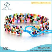 De haute qualité diy bohème bijoux en arc-en-ciel couleur diy bohemian bracelet