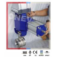 Válvula de esfera pneumática 304 em aço inoxidável V