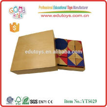 2015 Hot Sale High Quality Creative Puzzle Block Multicolor Puzzle en bois YTS029