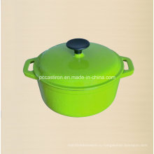 1.8L Круглый эмаль Cast Iron Iron Casserole Dia 18cm