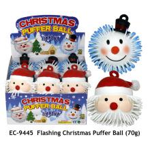 Juguete de la bola del soplador de la Navidad que destella