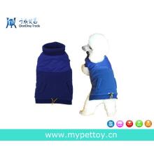 Пальто для собак с модным сращиванием ткани