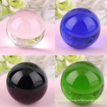 80ml Rare K9 cristal Feng Shui boule solide boules de verre coloré