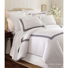 venda quente conjunto de cama bordado roupa de cama capa de edredão
