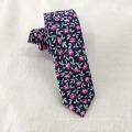 Neueste dünne Mens Cotton Floral Navy Improt Krawatte