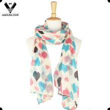 Мода дешевые милые девушки полиэстер шарф