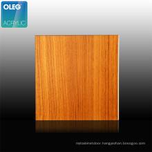 Grain Design Acrylic Sheet OLEG Pattern Wood Cutting Cast Hard Pallet Customized Glossy 1220X2440MM