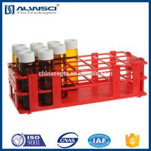 Suporte de frascos de amostra Revestimento de frascos vermelhos para frasco hplc