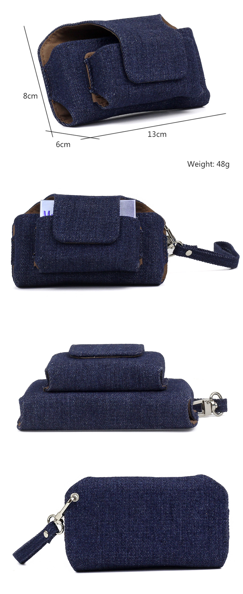 Iqos Denim Cigarette Carry Bag