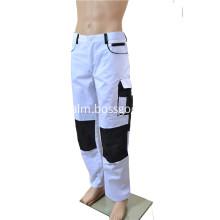 Polyester/Cotton White/Black Pants