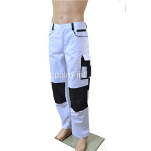 Polyester / Cotton White / Black Pants