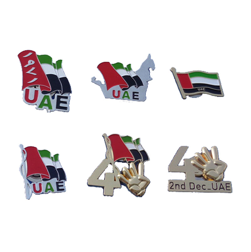 Dubai Metal Gifts Uae Flag Pin