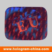 Étiquette personnalisée d'hologramme de sécurité de place d'animal familier de conception de logo