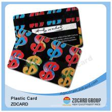 Conception différente pour les cartes de cadeaux et d'adhésion en PVC