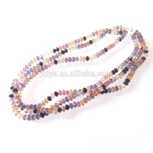 Multi Strand 8MM Crystal Beaded Necklace Glass Beaded Necklace