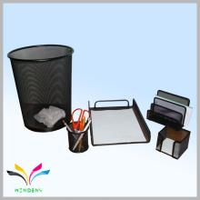 material de escola de escritório conjunto de papelaria de malha de metal