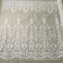 High Quality Handmade Embroidery Wedding Beaded Fabric