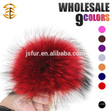 New Year Product Stylish Hat Accessory Fur Balls Genuine Big Size 19cm Raccoon Fur Pompom